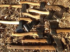 One axe can never do it all! Sharpening day at Greenlife woodcraft. http://ewoodworkingprojects.com/wooden-rustic-coffee-table/