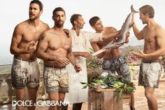 Ads for Men: Tony Ward Front and Center in Dolce&Gabbana Spring/Summer 2014 Ad Campaign.
