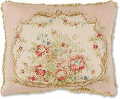 Aubusson Silk Floral Pillow