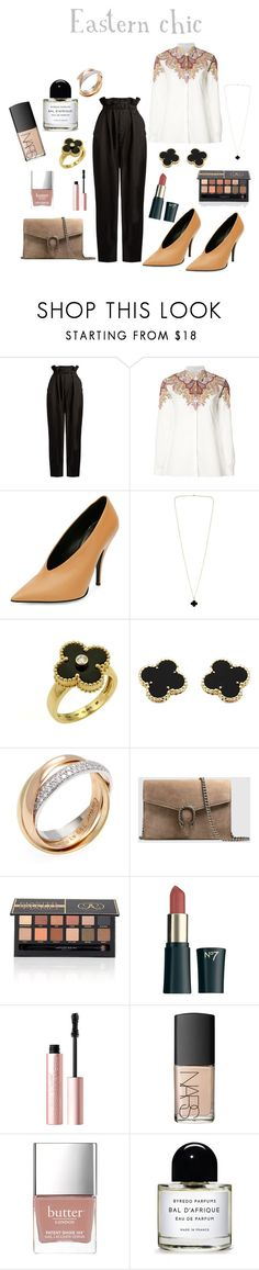 """""""Eastern chic"""" by maramyfashion on Polyvore featuring Maison Margiela, Etro, STELLA McCARTNEY, Van Cleef & Arpels, Cartier, Gucci, Boots No7, Too Faced Cosmetics, NARS Cosmetics and Butter London"""