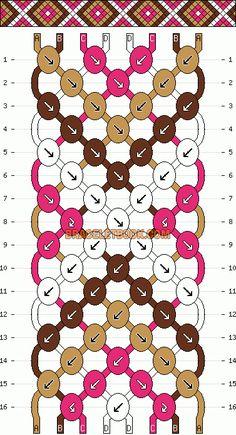 Friendship bracelet pattern for Mom's beads?