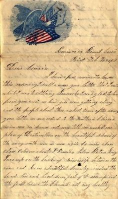 civil war letter -  When a soldier is away from home - fighting - a letter is most valuable.
