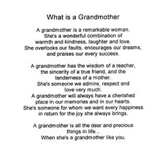 grandma poems | Grandmothers' Day - ESL Resources