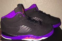 Little Girls Boys Jordan 5 Retro Basketball Shoes Toddler size 9 C NIB