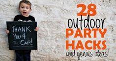 outdoor summer party hacks