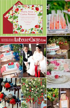 Invitaciones de boda, invitaciones para bodas, bodas con fresas, inspiracion bodas fresas, fresas  Para Más Info Visita: www.LaBelleCarte.com  Online wedding invitations, online wedding cards, wedding ideas, strawberry wedding, strawberry party  For More Ideas Visit: www.LaBelleCarte.com/en