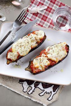 Aubergines rôties, sauce tomate et mozzarella - Chefnini