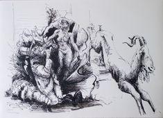 Eine Ausstellung in der Atelier Galerie 11 von 02.02.2019 - 30.03.2019 Art, Humanoid Sketch