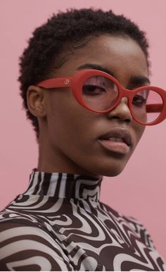 Red glasses #blackgirlmagic #blackgirlsrock #fashion