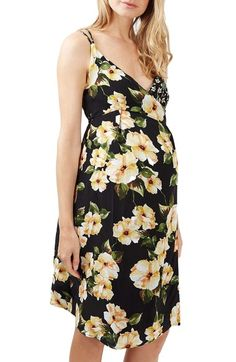 Topshop Wrap Maternity Slipdress available at #Nordstrom
