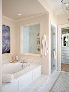 Drop In tub surround Bad Inspiration, Bathroom Inspiration, Small Bathroom, Master Bathroom, Marble Bathrooms, Bathroom Tubs, Luxury Bathrooms, Master Bedrooms, Bathroom Ideas