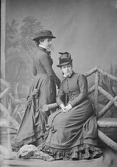 Misses Alice (The White Rose of Sydney) & Margaret Halloran of Burwood, NSW, ca. 1877. / ¼ plate glass negative by Freeman & Co. by State Library of New South Wales collection.