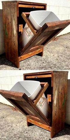 Old Pallets Furniture Plans - May 04 2019 at Pallet Furniture Plans, Diy Pallet Sofa, Wooden Pallet Projects, Wooden Pallet Furniture, Diy Furniture Projects, Woodworking Projects Diy, Woodworking Furniture, Wooden Pallets, Rustic Furniture