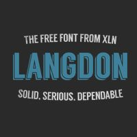 beautiful free font Langdon