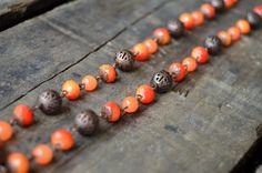 Orange and Copper Necklace by AmarisJewelry on Etsy