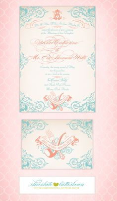 """""""The Little Mermaid"""" Arial & Eric Wedding Announcement!  Most FAVORITE wedding invitation EVER!  Might use this for a baby announcement in the future!  :)"""