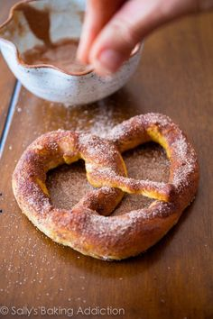 Cinnamon Spiced Soft Pretzels by sallysbakingaddiction.com