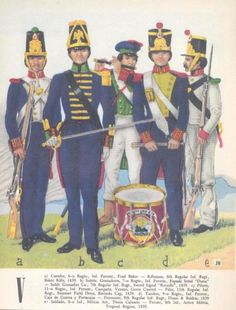 Mexican Infantry men.
