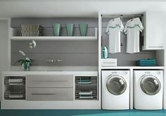 Laundry Room Inspiration: Neat and organized Laundry Room Inspiration: Neat and . Laundry Room Inspiration: Neat and organized Laundry Room Inspiration: Neat and organized Modern Laundry Rooms, Laundry In Bathroom, Garage Laundry, Laundry Decor, Interior Design Living Room, Living Room Designs, Laundry Room Inspiration, Laundry Room Organization, Paint Colors For Living Room