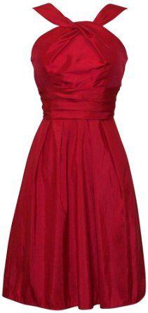 Amazon.com: Taffeta Halter Dress  Knee-Length: Clothing $50.99