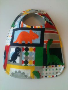 Baby Bib Second Item Ships Free.  Dinosaur   10 x by Essiedesigns