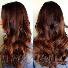 Are you looking for auburn hair color hairstyles? See our collection full of auburn hair color hairstyles and get inspired! Dark Auburn Hair Color, Brown Ombre Hair, Dark Hair With Highlights, Auburn Highlights, Balayage Highlights, Color Highlights, Balayage Color, Medium Auburn Hair, Honey Highlights