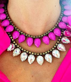 layered sylvia necklaces.