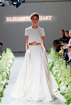 2 piece co-ordinate wedding dress