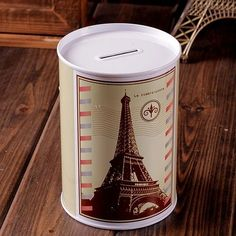 Saving Money Bank The Money Box Tin Coin Paris Eiffel Tower Gift Piggy Bank Money Bank, Savings Bank, Paris Eiffel Tower, Tin Boxes, Metal Tins, Event Planning, Saving Money, Coins, Mugs