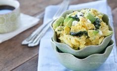 Goat, Spinach, Avocado Scramble by Against All Grain