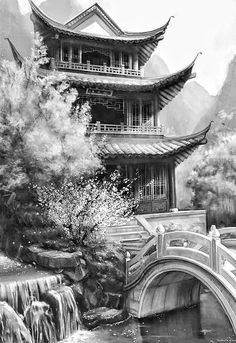 Oriental design - comtemporany - design - Oriental design – comtemporany – Best Picture For wolf tattoo - Japanese Temple Tattoo, Japanese Tattoo Art, Japanese Tattoo Designs, Japanese Buildings, Japanese Architecture, Geisha Tattoos, Japanese Artwork, Japanese Painting, Tattoo Pequeños Mujer