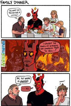 Funny memes Devil is a good guy...