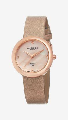 Akribos | XXIV Women's Diamond Swiss Quartz Watch
