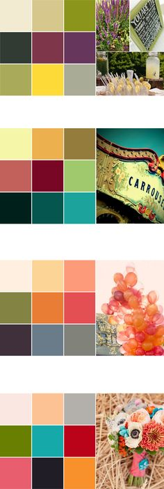 Wedding colour palette ideas (eye dropped from photos)