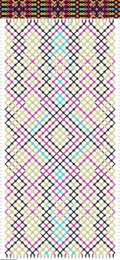 Muster # 92963, Streicher: 32 Zeilen: 68 Farben: 7