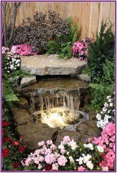 Backyard patio garden landscape design water features Ideas for 2019 Backyard Water Feature, Ponds Backyard, Backyard Waterfalls, Backyard Ideas, Pond Ideas, Big Backyard, Amazing Gardens, Beautiful Gardens, Design Fonte