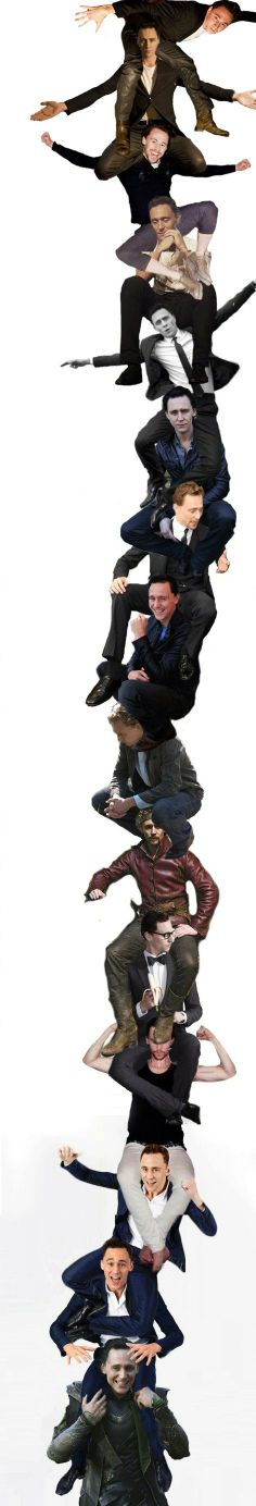It's a tower of Hiddles! THIS IS AMAAAAZING!!!