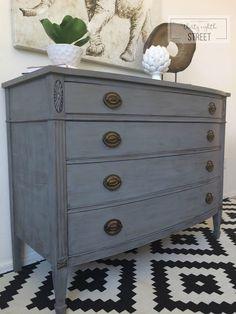 Restoration Hardware Style Dresser Makeover