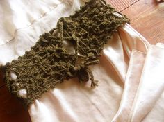 Free Crochet pattern - corset belt. Interesting!!