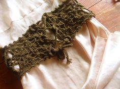 Free Crochet pattern - corset belt. Interesting!!
