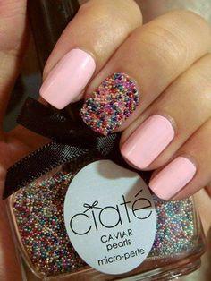 Uñas caviar para novias: Un detalle con uñas rosa pastel (y un paso a paso para uñas caviar!)