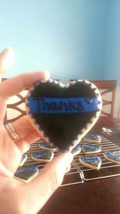 Thin Blue Line sugar cookies. Www.Facebook.com/ASweetRetreat. Alabama