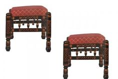 Traditional Living Room Furniture, Ottoman Stool, Wooden Stools, Extra Seating, Fabric Shades, Handmade Furniture, Types Of Wood, Traditional Design, Home Decor Items