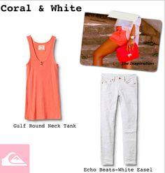 I love Coral & White!