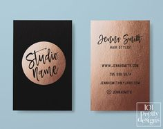Rose gold business card makeup business card by 101prettydesigns