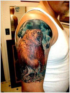 bear tattoos for men | Bear Tattoo Design (2)