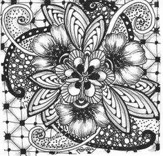My Zentangle - Diva's Challenge #153