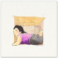 Cobra Pose by Moitao. #dickefrau #kunst #malerei #rubensfrau #pose #cobra #cobrapose #yoga | http://www.kunst-in-bildern.de/bildergalerie/cobra-pose