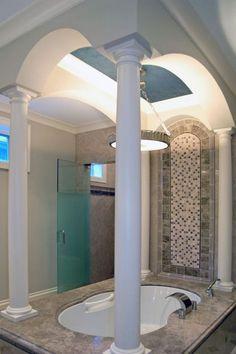 master bath in Chicago Home, Milbury Architects, Ltd.