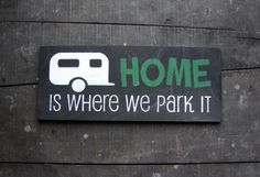 <3  Love it.  Made it with the transfering lettering from wax paper idea.  Looks great in the camper!